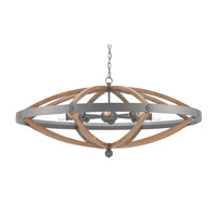 Highbank 8 Light 49 inch Gray and Natural Ash Chandelier Ceiling Light