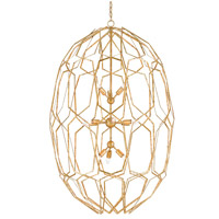Currey & Company 9000-0207 Albertine 12 Light 34 inch Gold Leaf Chandelier Ceiling Light
