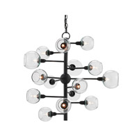 Penpoint 15 Light 28 inch French Black Chandelier Ceiling Light