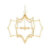 Garconne 8 Light 45 inch Contemporary Gold Leaf Chandelier Ceiling Light