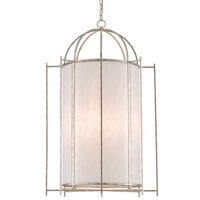 Alton 4 Light 24 inch Silver Granello and White Lantern Ceiling Light
