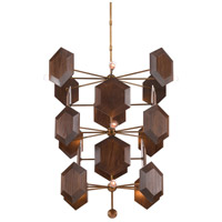 Honeycomb 12 Light 36 inch Brass and Stout Chandelier Ceiling Light