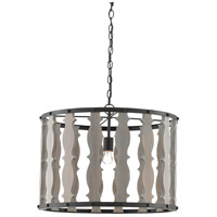 Hourglass 1 Light 25 inch Blacksmith and Driftwood Gray Pendant Ceiling Light
