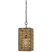 Cusco 1 Light 10 inch Chinois Antique Gold Leaf and Satin Black Pendant Ceiling Light
