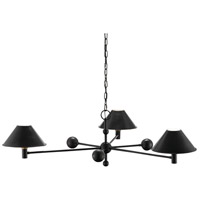 Winecoff 3 Light 44 inch Oil Rubbed Bronze and Antique Brass Chandelier Ceiling Light
