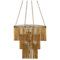 Mantra 7 Light 30 inch Gold Leaf Chandelier Ceiling Light