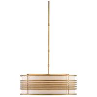 Currey & Company 9000-0251 Farnham 3 Light 28 inch Brass Semi-Flush Mount Ceiling Light