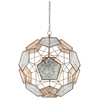 Julius 9 Light 31 inch Pyrite Bronze and Raj Mirror Chandelier Ceiling Light, Orb