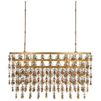 Shanti 7 Light 50 inch New Gold Leaf Chandelier Ceiling Light