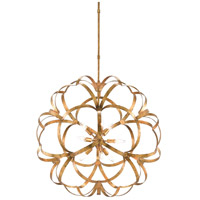 Sappho 9 Light 34 inch New Gold Leaf Chandelier Ceiling Light, Orb
