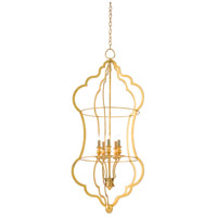 Grace 5 Light 24 inch Contemporary Gold Leaf Chandelier Ceiling Light, Large
