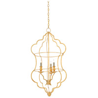 Grace 3 Light 21 inch Contemporary Gold Leaf Chandelier Ceiling Light