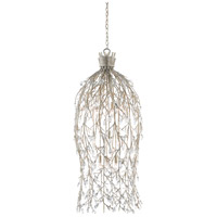 Crystal Bouquet 12 Light 20 inch Silver Granello Chandelier Ceiling Light