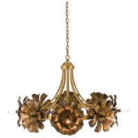 Currey & Company 9000-0279 Ottoline 8 Light 36 inch Polished Brass and Black Bronze Chandelier Ceiling Light