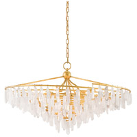 Tempest 4 Light 37 inch Rhine Gold and Natural Chandelier Ceiling Light