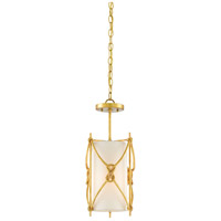 Ariadne 1 Light 9 inch Contemporary Gold Leaf Pendant Ceiling Light, Small