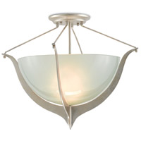 Vanessa 1 Light 19 inch Contemporary Silver Semi-Flush Ceiling Light