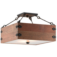 Billycart 2 Light 16 inch Blacksmith Semi-Flush Ceiling Light