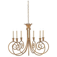 Eyelash 7 Light 35 inch French Gold Leaf Chandelier Ceiling Light, Small
