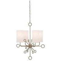 Aurora 4 Light 24 inch Silver Granello Chandelier Ceiling Light