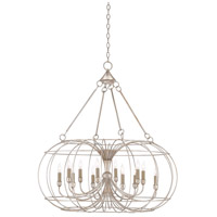 Cortina 12 Light 37 inch Contemporary Silver Leaf Chandelier Ceiling Light