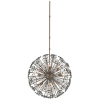 Symphony 9 Light 25 inch Silver Granello Chandelier Ceiling Light, Orb