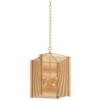 Moineaux 4 Light 14 inch Dark Contemporary Gold Leaf Lantern Pendant Ceiling Light