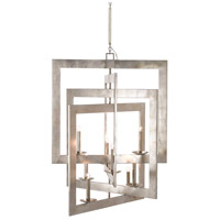 Middleton 8 Light 45 inch Contemporary Silver Leaf Chandelier Ceiling Light, Grand
