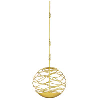 Chaumont 2 Light 16 inch Contemporary Gold Leaf and White Orb Chandelier Ceiling Light, Small