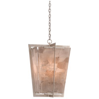 Currey & Company 9000-0390 Berenson 4 Light 21 inch Silver Leaf and Smoky Quartz Lantern Pendant Ceiling Light