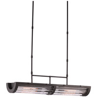 Currey & Company 9000-0401 Birnam 2 Light 40 inch Hiroshi Gray and Clear Chandelier Ceiling Light