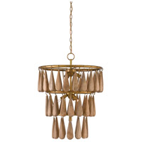 Savoiardi 7 Light 21 inch Vintage Brass and Natural Chandelier Ceiling Light