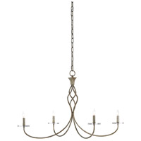 Currey & Company 9000-0418 Lionel 4 Light 37 inch Pyrite Bronze and Clear Chandelier Ceiling Light