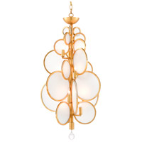Currey & Company 9000-0437 Dish 12 Light 21 inch Contemporary Gold Leaf Chandelier Ceiling Light Denise McGaha Collection