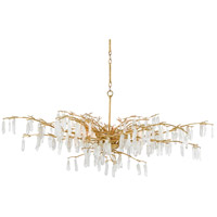 Currey & Company 9000-0438 Forest Dawn 8 Light 60 inch Washed Lucerne Gold/Natural Chandelier Ceiling Light Aviva Stanoff Collection