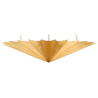 Currey & Company 9000-0446 Choupette 3 Light 41 inch Contemporary Gold Leaf/Acrylic White Interior Chandelier Ceiling Light