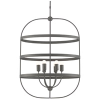 Currey & Company 9000-0450 Lathan 6 Light 20 inch Graphite Chandelier Ceiling Light
