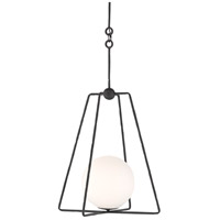 Currey & Company 9000-0451 Stansell 1 Light 19 inch Antique Bronze/White Pendant Ceiling Light