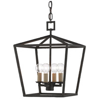 Currey & Company 9000-0456 Denison 4 Light 12 inch Mole Black Lantern Pendant Ceiling Light Small