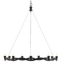 Currey & Company 9000-0461 Serpentina 9 Light 37 inch Antique Black Chandelier Ceiling Light