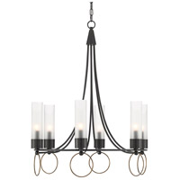 Currey & Company 9000-0470 Relais 6 Light 28 inch Antique Brass/Oil Rubbed Bronze Chandelier Ceiling Light
