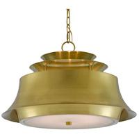 Currey & Company 9000-0471 Altson 6 Light 24 inch Polished Brass Pendant Ceiling Light