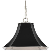 Currey & Company 9000-0476 Melissas 1 Light 12 inch Black/Silver Pendant Ceiling Light