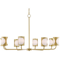 Currey & Company 9000-0483 Carnaby 8 Light 44 inch Brushed Brass Chandelier Ceiling Light