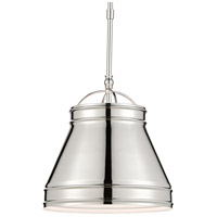 Currey & Company 9000-0485 Lumley 1 Light 13 inch Polished Nickel Pendant Ceiling Light