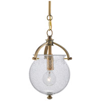 Currey & Company 9000-0486 Peele 1 Light 6 inch Antique Brass Pendant Ceiling Light