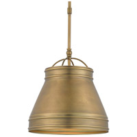 Currey & Company 9000-0488 Lumley 1 Light 13 inch Antique Brass Pendant Ceiling Light