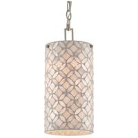 Currey & Company 9000-0490 Ellison 1 Light 6 inch Pearl/Antique Silver Leaf Pendant Ceiling Light