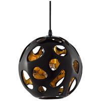 Currey & Company 9000-0493 Pursley 1 Light 11 inch Bronze/Gold Pendant Ceiling Light