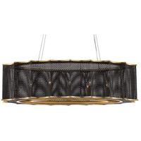 Currey & Company 9000-0512 Nightwood 8 Light 22 inch Mole Black/Contemporary Gold Leaf Chandelier Ceiling Light